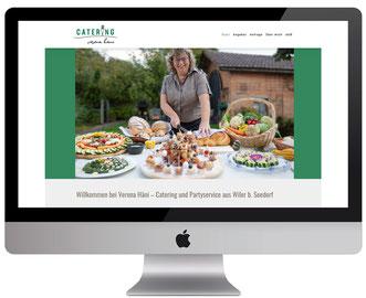 Webseite von dickesdesign für catering verena häni