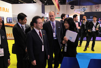 MInister Seko visited JASE-W booth