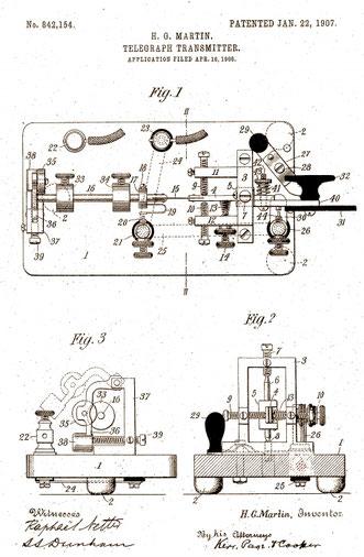 Martin Vibroplex Patent.