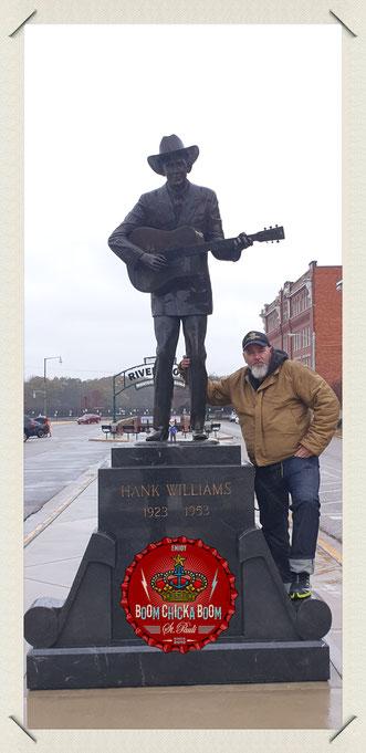 Hank jr. stiftete der Stadt Montgomery diese Statue seines Vaters.