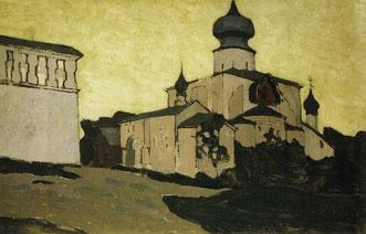 Успенская Пароменская церковь в Пскове.