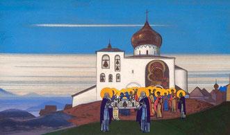 Православный храм в Звенигороде.