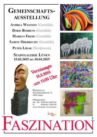 Gemeinschaftsausstellung der künstlergruppe SKuMA im Hansesaal