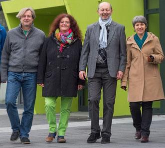Foto © Martin Diehl : Die GRÜNE Fraktion Modautal (v.r.) : Barbara Walter, Heinz Gengenbach, Susanne Hoffmann-Maier und Dirk Fokken
