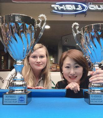 優勝のブライアント(左)と2位の曽根プロ 写真提供:曽根恭子