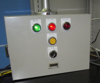 Operational control panel for flat dice rolling process in a fastener factory