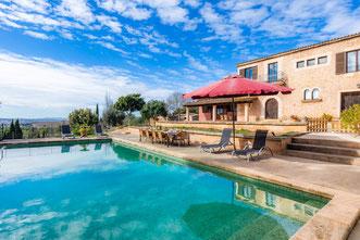 Finca Can Peixet mit Pool und Panoramablick