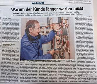 Artikel: Augsburger Allgemeine / 22.02.2018
