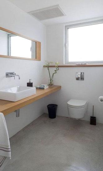 béton ciré pour salle de bain, béton ciré