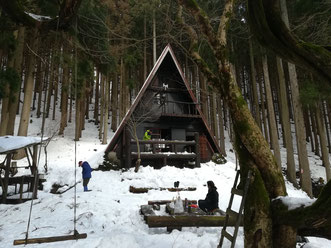 皆子山の山小屋