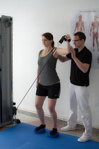 Physiotherapie mit und ohne Geräten in Graz