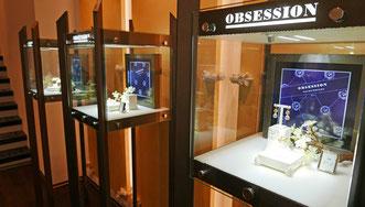 Das Ladengeschäft mit Siegelring Lounge der Goldschmiede OBSESSION in Zürich.