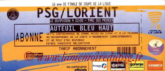 Tickets  PSG-Lorient  2006-07