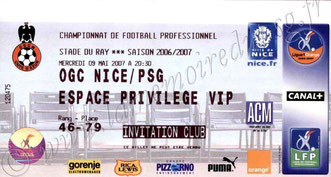 2007-05-09  Nice-PSG (36ème L1)