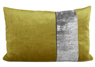 passend zum bambusgrünen Kissen: Samtkissen Natura bambusgrün/silber