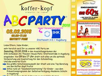 Selbstverteidigung Augsburg - ABC Party 2018 Koffer Kopf