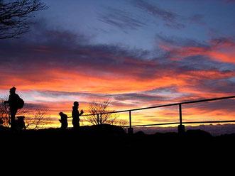 Anlässlich der Sonnenaufgangswanderung auf dem Balmfluhchöpfli an Heiligabend 2013