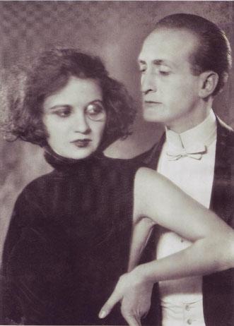 Tänzerin Anita Berber und Schauspieler Hans Albers (1924)