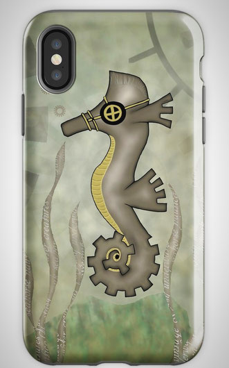 Steampunk Seahorse Mobile Cases