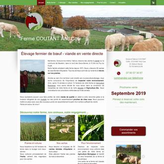 Site de la ferme Coutant and Cow réalisé en formation avec e-cime.fr en Deux-Sèvres à Niort