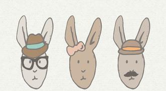 Hipster bunny - slakkenpost.nl - Mandee Design