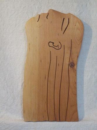 Tristesse. Bois exotique.2013. (51x27cm) Vendu.