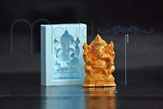 Silikonform MouldManufaktur Mould Fondant Wahrzeichen Londoney Eiffelturm Ganescha Indien