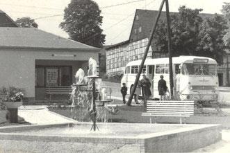 Bild: Springbrunnen Wünschendorf 1975