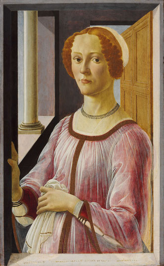 Sandro Botticelli, Bildnis einer Frau (Smeralda Brandini?), 1470-1475 Holz 65,7 x 41 cm London, Victoria and Albert Museum © Victoria and Albert Museum, London