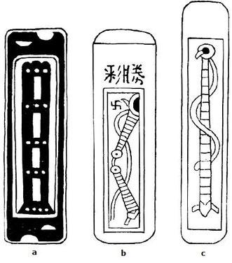 Fig. 15. G. E. MAUGER : Quelques considérations sur les jeux en Chine et leur développement synchronique avec celui de l'empire chinois. Bull. et Mém., Sté d'anthropologie de Paris, t. 6, VIe s., 1915