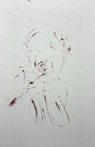 SOLD - «Can you see him laughing ?» BIC ink on paper 2019