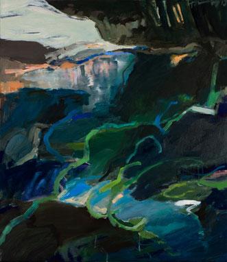 weiter oben 2013 80 x 70 cm Öl/ Leinwand