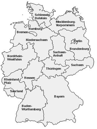 Karte der Bezirksgruppen
