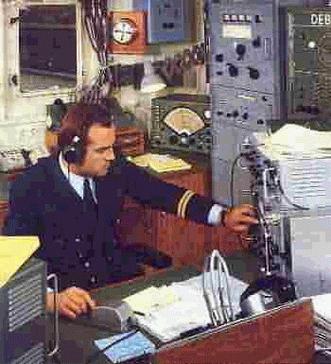 Nella foto è ritratto l'Ufficiale radiotelegrafista della Motonave tedesca OTTO HANN