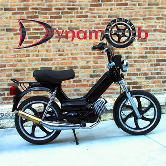 Mobylette pour la location de 2 roues par l'association Dynamob à Loudun 86