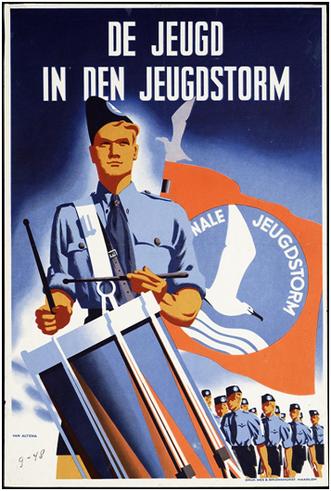 Een wervingsposter van de Nationale Jeugdstorm