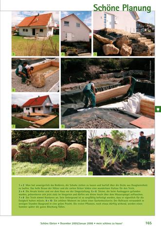 Landschaftbau und Teichbau im Hausgarten in Bräunlingen
