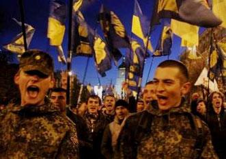 """""""Folk fra det ekstreme højrefløjsparti """"Svoboda"""""""