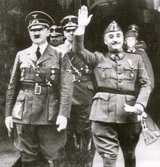 Adolf Hitler og Francisco Franco