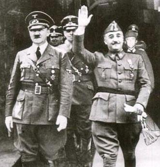 Adolf Hitler og Francisco Franco