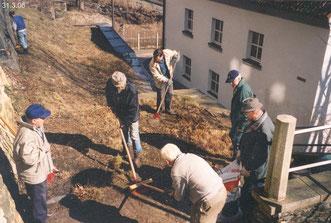 Reinigungseinsatz um Mühlgraben und Weisbachsches Haus, Plauen