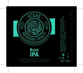 Etiquette bière IPA Indian Pale Ale Roanne