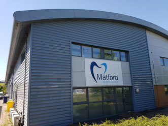 Commercial property cladding cleaned in Marsh Barton, Exeter