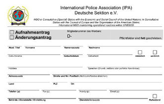 Aufnahmeantrag IPA NF