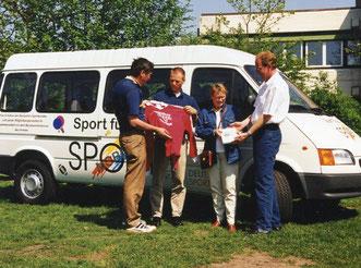 Thomas Küppers (von rechts), Andrea Schneider, Frank-Michael Mücke und Manfred Wille