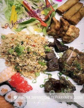 preiswerte, billige Menüs im chinesischen Restaurant Fukuya Waldshut