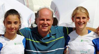 Elisa Mayer, Patrick Schmutz (Trainer), Nadja Weiser (vlnr / Foto: Joana Weiser)
