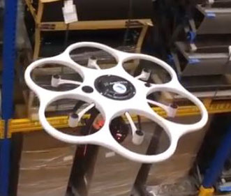 DOKS developed drone to monitor the inventory of cargo terminals
