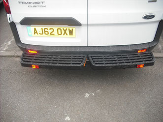 ford transit custom twin tread non tow step rear safety access