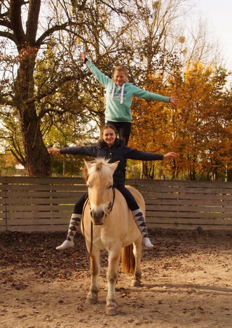 Jugendgruppe mit Pferd/Pony
